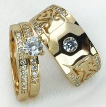 14K Rose Gold Wedding Bands Diamond Engagement Ring for Women White Topaz Sterling Silver Rings Peridot Anillos Bizuteria Ring недорого
