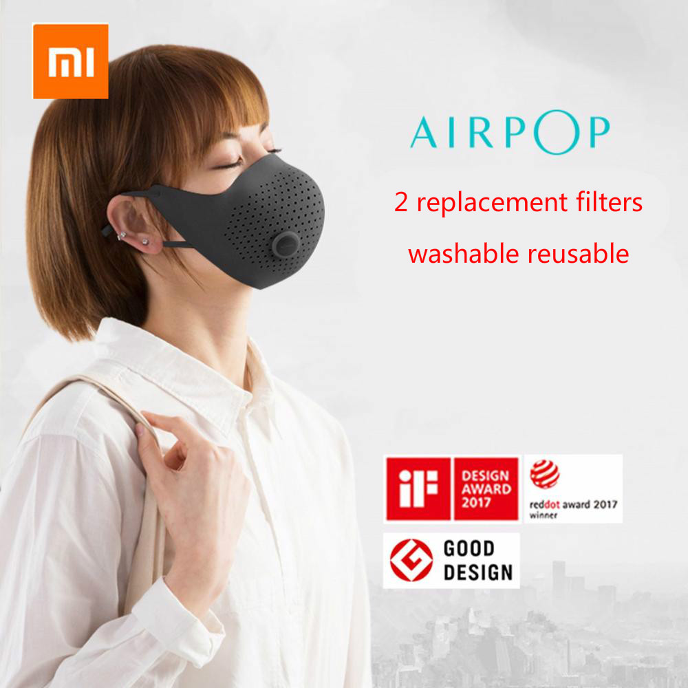 In stock  Xiaomi Mijia AirPOP Air Wear PM2.5 Anti-haze Face Mask With Filter Adjustable Ear Hanging Comfortable Washable Masks