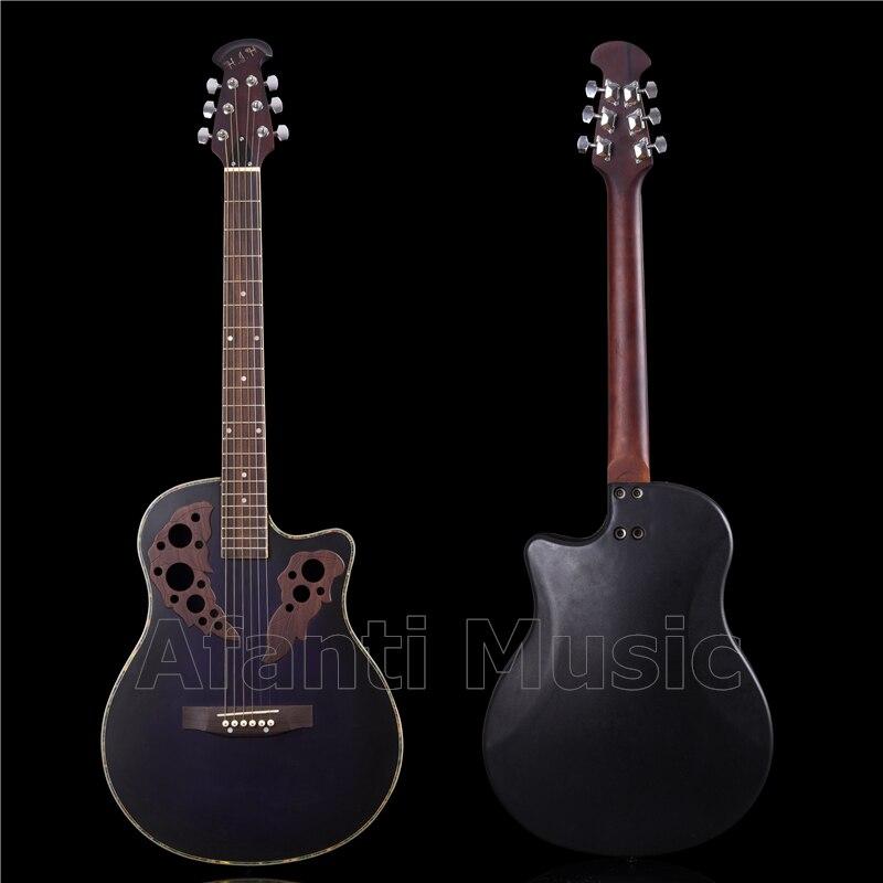 HOT! Afanti Music Super Roundback/ Carbon Fiber Back & Side Acoustic Guitar (ANT-053)