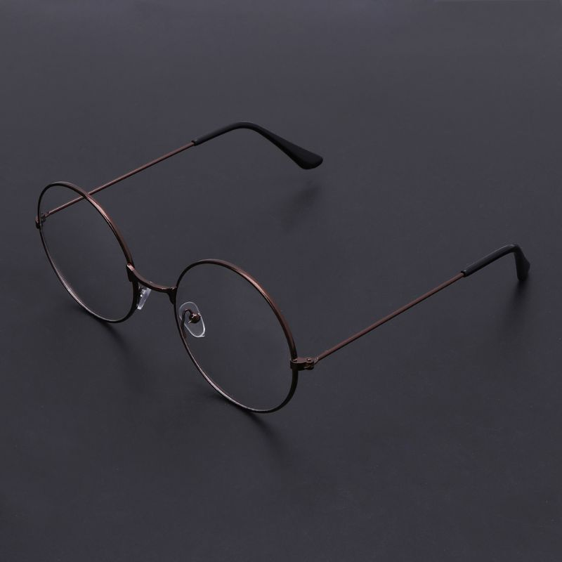HP Vintage Round Frame Glasses Cosplay Prop Action Figure Toy Delicate And Pretty Glasses For Men Women Kids  Q6PD