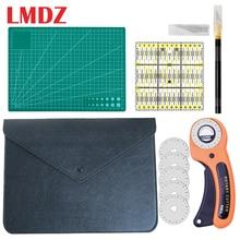 LMDZ 5 قطعة مجموعة الخياطة مجموعة أدوات خياطة الملابس قطع اليد طقم السكاكين سكين القماش خليط حاكم DIY بها بنفسك الخياطة اللحف