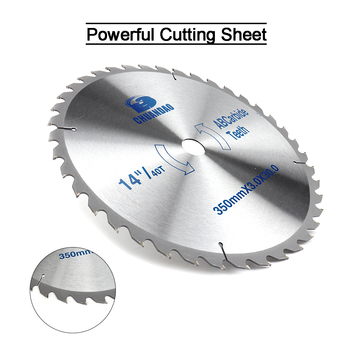 цена на 14 inch Circular Saw Blade Carbide Alloy Cutting Disc woodworking For Aluminum and Non Ferrous Metal Wood 60/80T/100T/120T