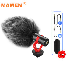 Mamen KT-G3 mini microfone de vídeo microfone de gravação universal microfone para câmera dslr iphone android smartphones mac tablet