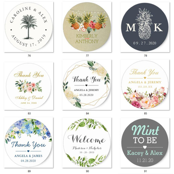 100 Pieces, 3-7CM,personalized wedding labels,custom wed sticker,person sticker,wed label ,parti decor,wed parti