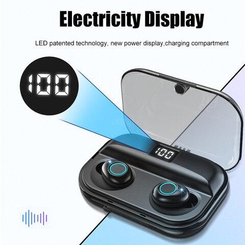 Bluetooth V5.0 Earphones TWS Wireless Bluetooth Earphone 8D Stereo Wireless Headphones Sport Earbuds Headset 2500mAh Power Bank Multan