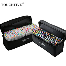 TouchFIVE Permanent Markers Alcohol Ink Markers Brush Dual Tips Professional Drawing Marker Set Art Design 30/40/60/80/168 Color