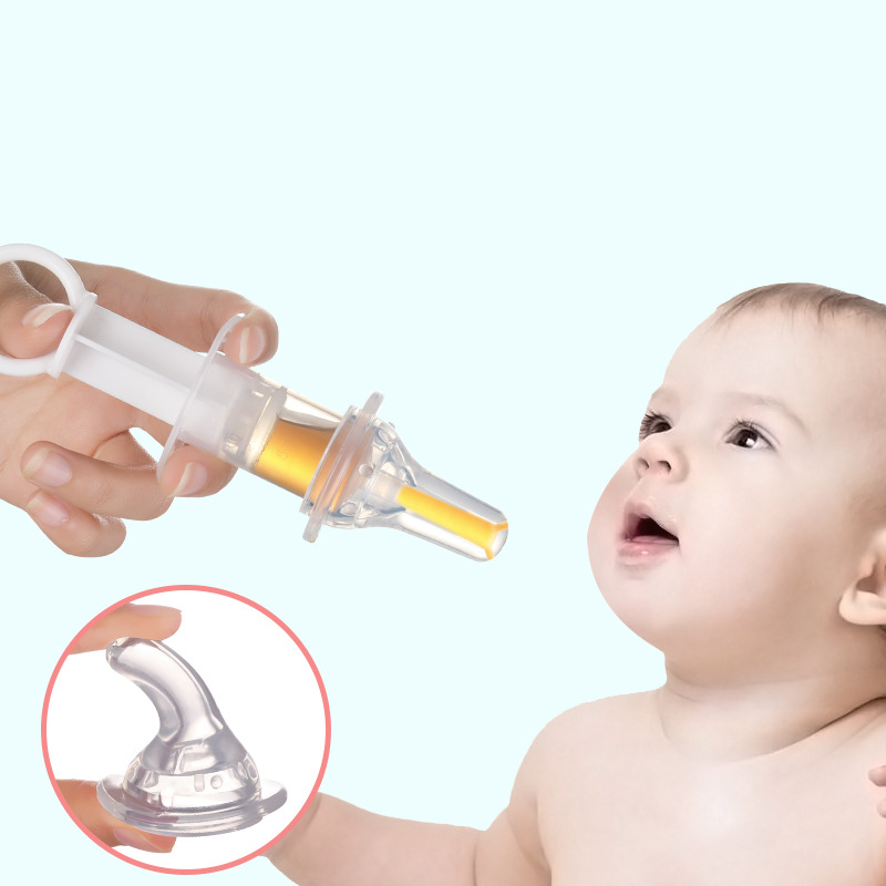 Baby Kids Smart Medicine Dispenser Needle Feeder Squeeze Medicine Dropper Dispenser Pacifier Feeding Utensils