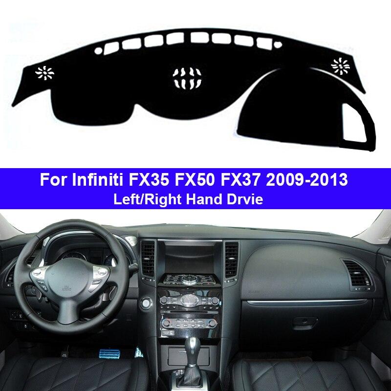 Car Dashboard Cover Dash Mat Carpet Cape For Infiniti FX35 FX50 FX37 2009 - 2013 LHD RHD Auto Dashmat 2010 2011 2012 Sunshade