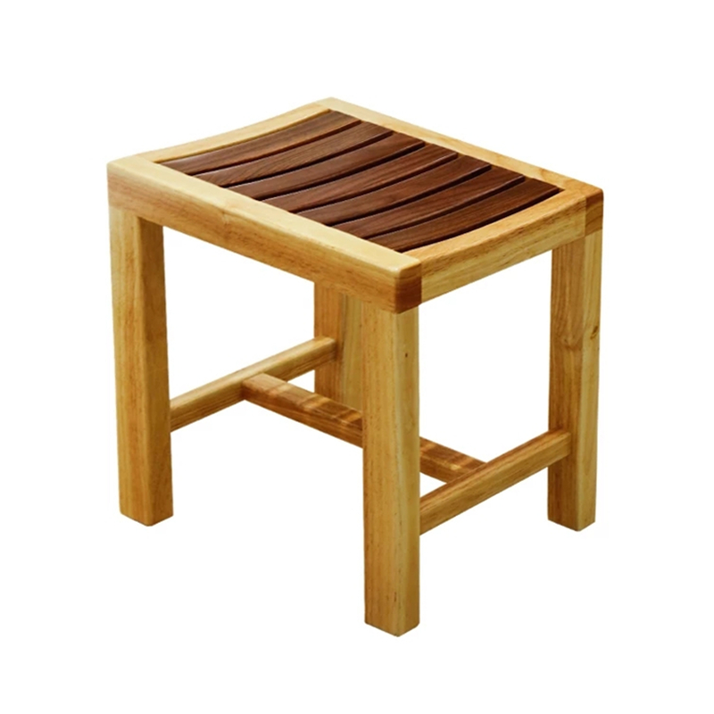 Solid Wood Shower Bench, Waterproof Shower Chair For Elderly Pregnant Woman,change Shoes Stool Widen Anti-skid Bath Chair