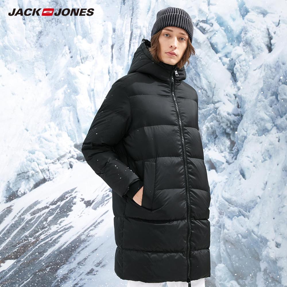 JackJones Men's Winter Hooded Long Down Jacket Parka Coat Menswear Streetwear 218312537
