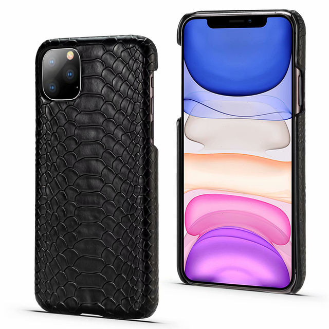 TIKITAKA Snake Skin Leather Phone Case for iphone 11 11 Pro 11 Pro MAX XS Max X XR XS 8 7 6 6s Plus PU Leather Back Cover Capa