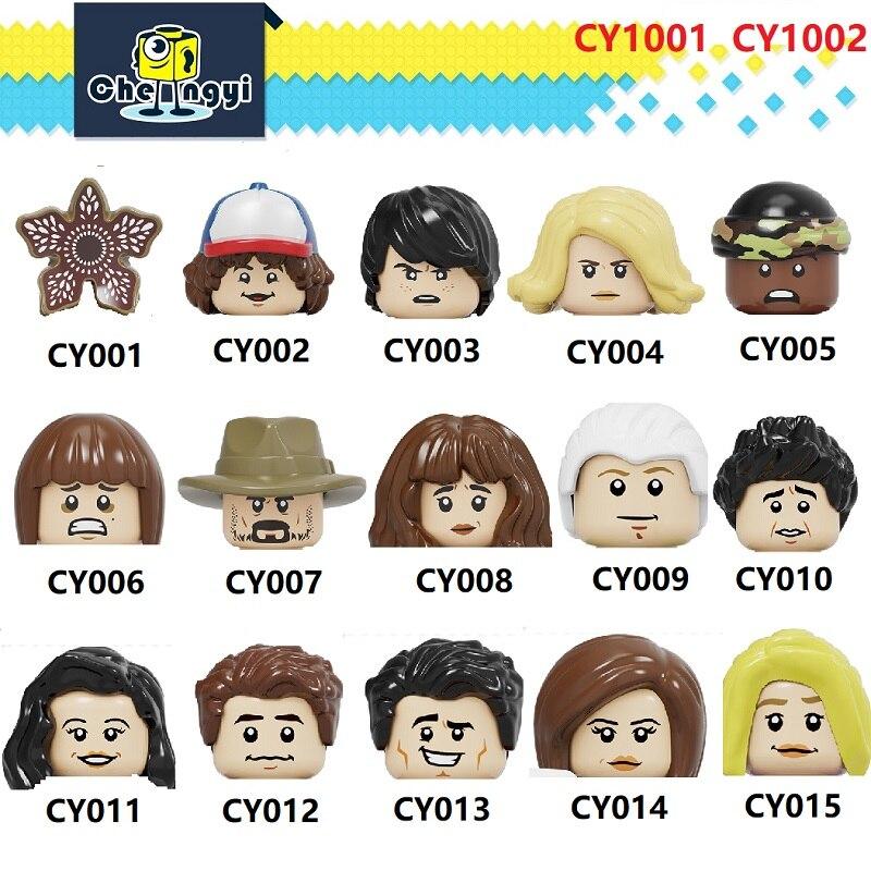 Building Blocks Gunther Ross Geller Mon Demogorgon Dustin Henderson Mike Wheeler Eleven Figures Toys For Children CY1001 CY1002