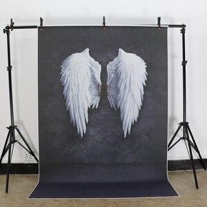 Image 3 - Laeacco ange diable ailes nuages nouveau né photographie décors vinyle Photo arrière plans anniversaire Photophone bébé douche Photocall