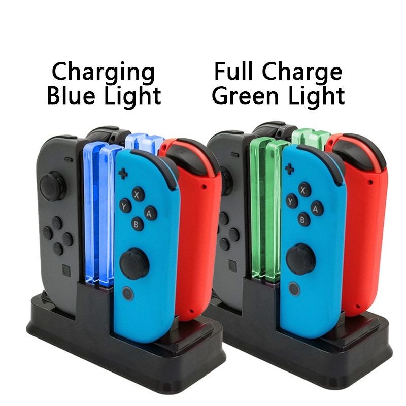 For Nintendo Switch Joy-con Controller LED Charging Dock 4 in 1 Charger For Nintendo Switch Pro Gamepad Charger Stand NS Switch