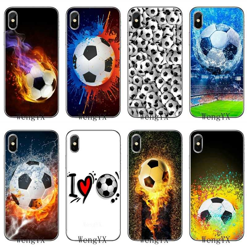 Retro Permainan Sepak Bola Bola untuk iPhone 11 Pro XR X XS MAX 8 7 6 S Plus SE 5 S 5C IPod Touch 5 6 Cover Case