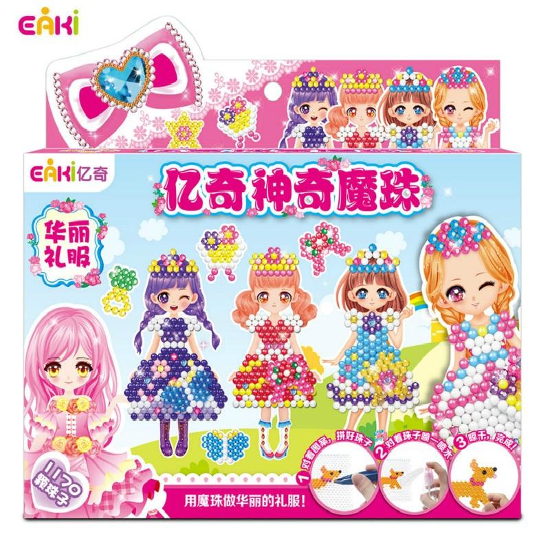 Genuine EAKI Magic Bead DIY Animal Theme Handmade Puzzle Toy Water Fog Sticky Music Kids Educational And Creative Toys Kids Toys