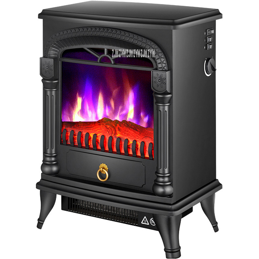 SF-1816 Household Visible Flame Warm Air Blower Independent Vertical European Style Electric Fireplace Heating Firebox 220V