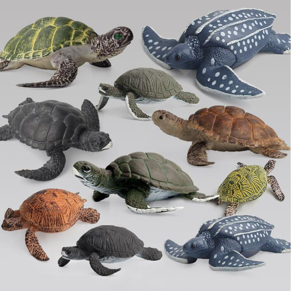 Learning Educational Kids Toys For Children 2020 Kids Toys Ocean Animal Model Solid Emulation Turtle Figurines Collection Toy