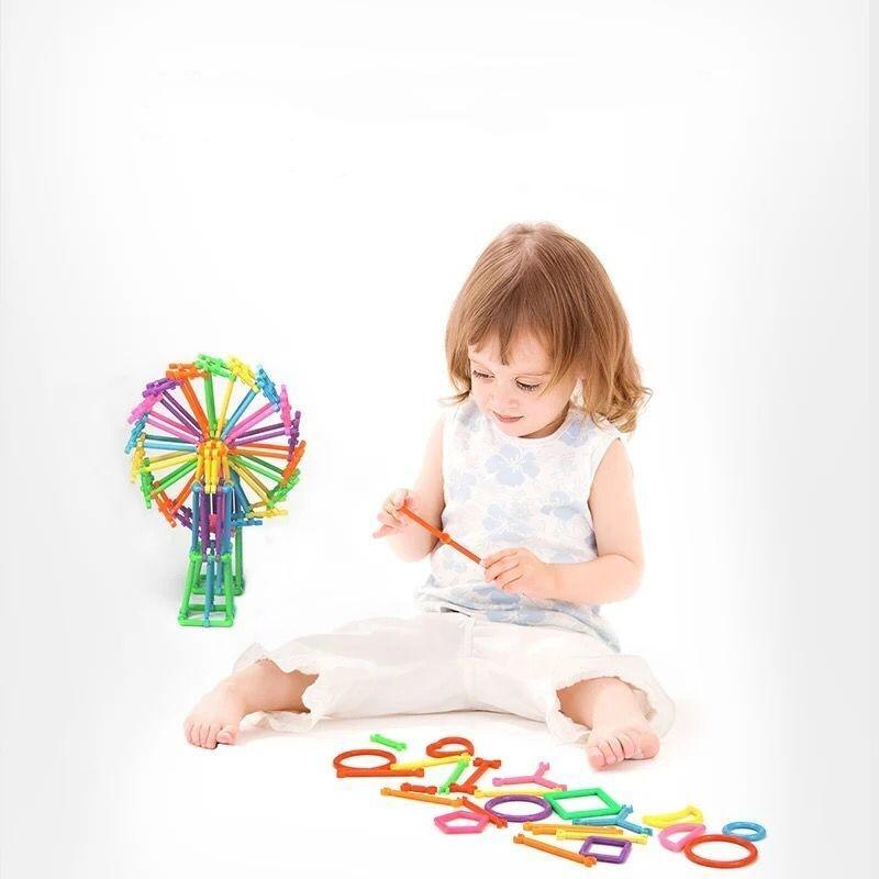 Assembled Building Blocks DIY Smart Stick Blocks Imagination Creativity Educational Learning Toys Children Gift Puzzle Stick