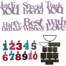 Metal Cutting Dies pop up Numbers Letters Happy Birthday For Scrapbooking And Cards Making Embossing Craft