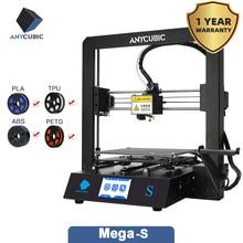 Anycúbico 3d impressora mega s atualizado anycúbico i3 mega grande volume de construção tela sensível ao toque de metal completo kit impressora 3d fdm impressão 3d