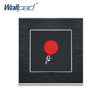 1 Gang 2 Way przełączniki Wallpad luksusowy przełącznik ścienny Satin metalowy panel przełączniki przerywacz tanie i dobre opinie Wall Switch Ze stopu Aluminium ze stopu Aluminium 12 Years New Arrival Stacyjka Wall Light Switch Black Aluminum Wenzhou China (Mainland)