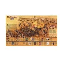 Peinture en aérosol de la carte des mongolie, toile Fine, décoration de maison, artisanat d'art pour la décoration murale du salon, 60x90cm