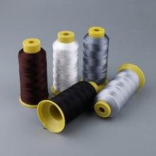 Fil à coudre en Nylon soudé 210D | Fil à coudre robuste pour la couture du cuir et de l'artisanat, réparation de toiles de tente, 1 rouleau (984 Yards)