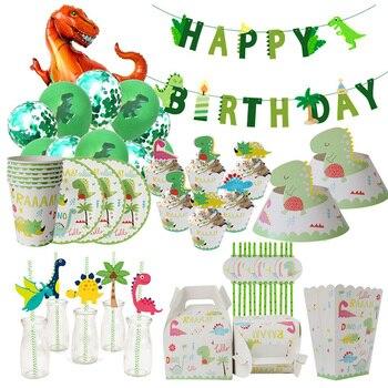 Динозавр, аксессуары для вечерние, искусственная посуда, набор для украшения вечеринки в джунглях