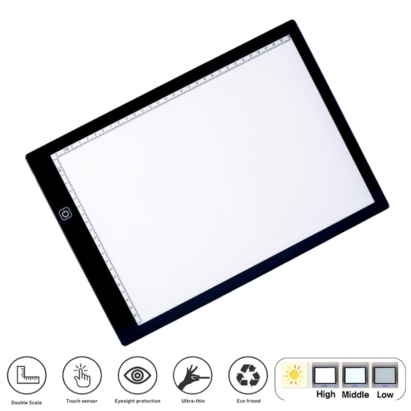 A4 Digital image Tablet for Drawing Pad Art Painting Graphic Copy Board Electronics Painting Table with Magnetic
