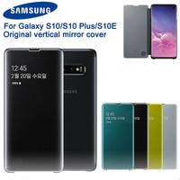 Original Vertical Mirror Clear View Phone Case For Samsung S10 X SM G9730 S10+ S10 Plus SM G9750 S10e S10 E SM G9700 Phone Cover