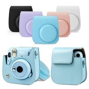 Image 3 - For Fujifilm Instax Polaroid mini11 mini 11 Handbags Shoulder Camera Protective Case Colorful Patterns Leather Camera Bag