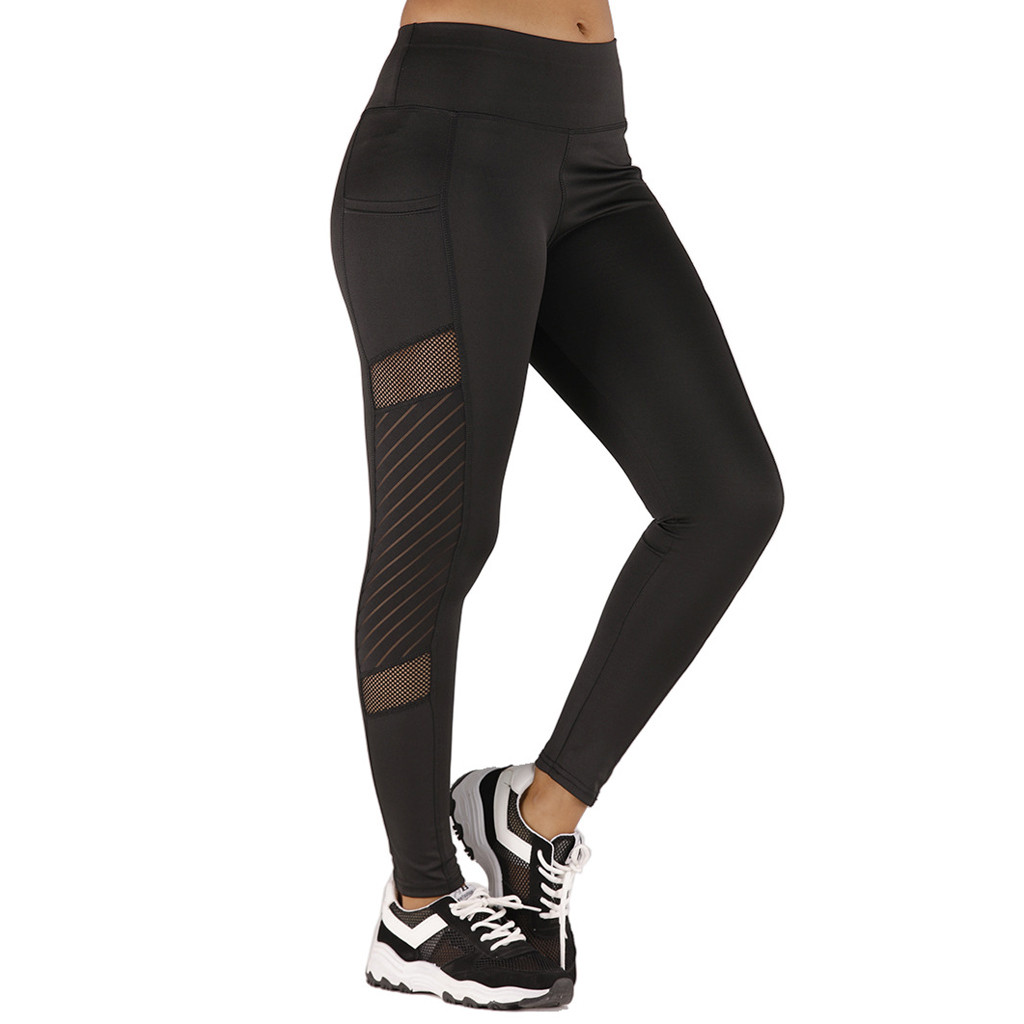 Women Leggings Sexy Pants Push Up Fitness Gym Leggins Running Mesh Leggins Seamless Workout Pants Femme High Waist Mujer #Z4