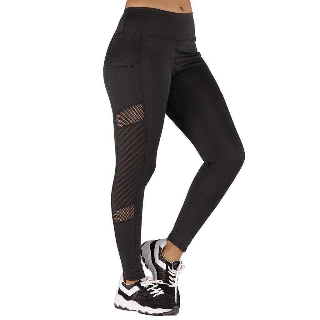Women Leggings Sexy Pants Push Up Fitness Gym Leggins Running Mesh Leggins Seamless Workout Pants Femme High Waist Mujer #Z4