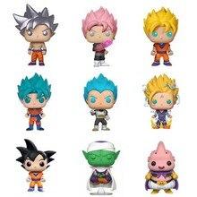 POP Dragon ball z Son Goku Vegeta on gohan super Saiyan figure Vegeta Trunks 10cm PVC Action Figures Toys Car Decoration
