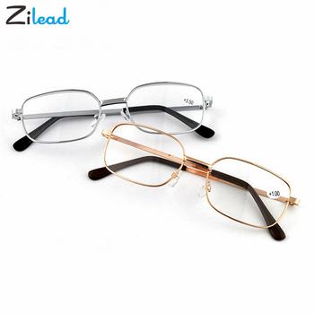 Zilead Retro Ultra lekkie okulary do czytania mężczyźni kobiety okulary do czytania do czytania Unisex żywica HD okulary + 1 0 1 5 2 0 2 5 3 0 mężczyzna tanie i dobre opinie Przezroczysty CN (pochodzenie) Lustro YJ0578 3 8cm Akrylowe 5 1cm Plastikowe tytanu 200002198 200002146