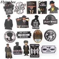 sticker motorcycle Flyingbee 18 pcs Peaky Blinders Cool Sticker men Stickers for DIY Luggage Laptop Skateboard Car Motorcycle Stickers X0729 (2)