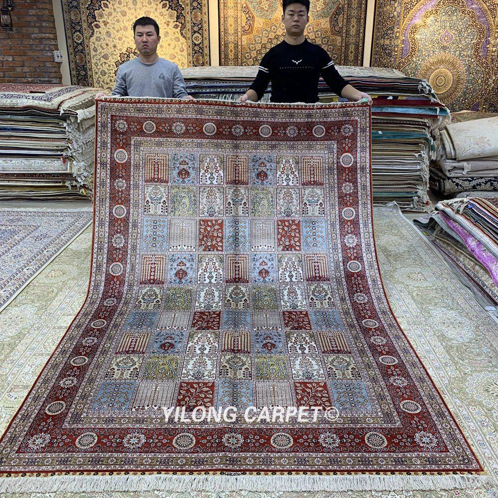Yilong 6'x9 'градински дизайн кашмир килим - Домашен текстил - Снимка 1