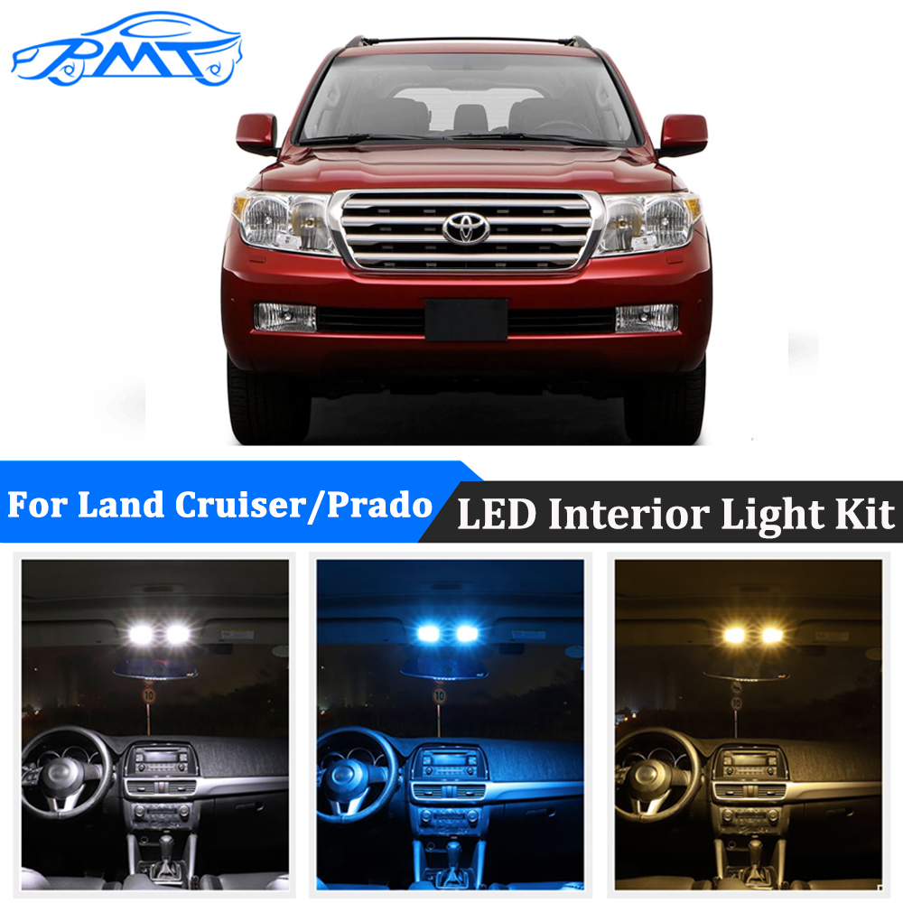 BMT For <font><b>Toyota</b></font> <font><b>Land</b></font> <font><b>Cruiser</b></font> 80 <font><b>100</b></font> 200 Prado 120 150 FJ Canbus Car LED Interior Light License Plate Lamp Bulbs For Auto Lighting image