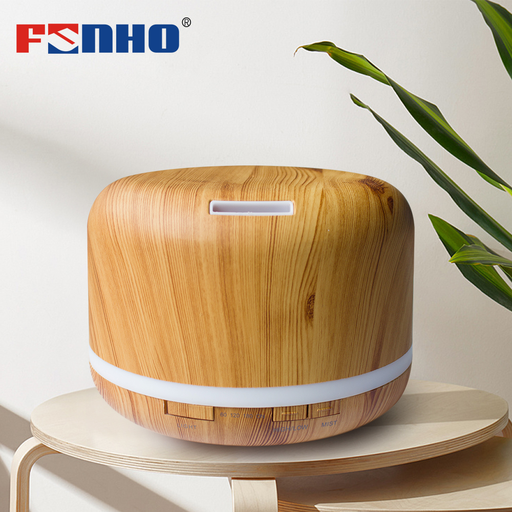 FUNHO Aroma Humidifier Oil Diffuser 500ml Ultrasonic Aromatherapy Cool Mist Maker 7 Color LED Light Lamp Humidificator For Home