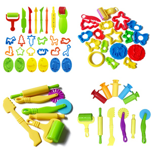 Hot Sale DIY Slime Play Dough Tools Accessories Plasticine Mold Modeling Clay Kit Slime Plastic Set Cutters Moulds Toy for Kids