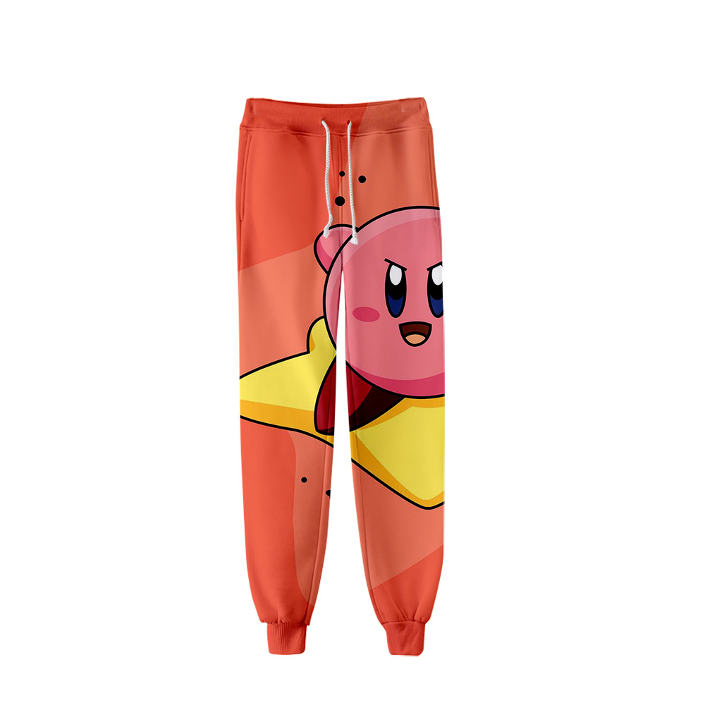 Suitable Comfortable Kirby Harajuku Fashion 3D Pants Autumn Men/women Hip Hop Casual Kirby Popular Hot 3D Boys/girls New Trouser