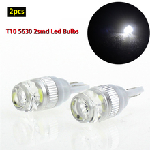 2pcs T10 LED W5W Canbus 5630 2smd 1W Car Clearance Light Side Wedge License Plate Lamp Universal Auto Instrument Roof Light цена 2017