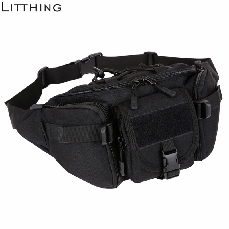 SHUJIN Men Waterproof  Waist    Military   Bag Hiking Fishing Hunting Camping Travel Hip Bum Belt #Ne