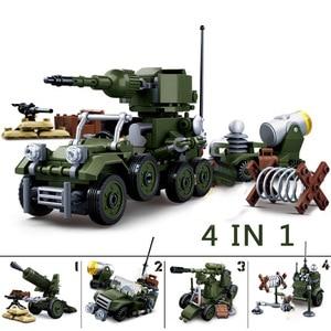 Image 3 - Military Tank Car Truck Plane Spaceship WW 2 Army Figures Series Set Soldier Weapon Building Blocks Bricks Model Toys Boy Gifts