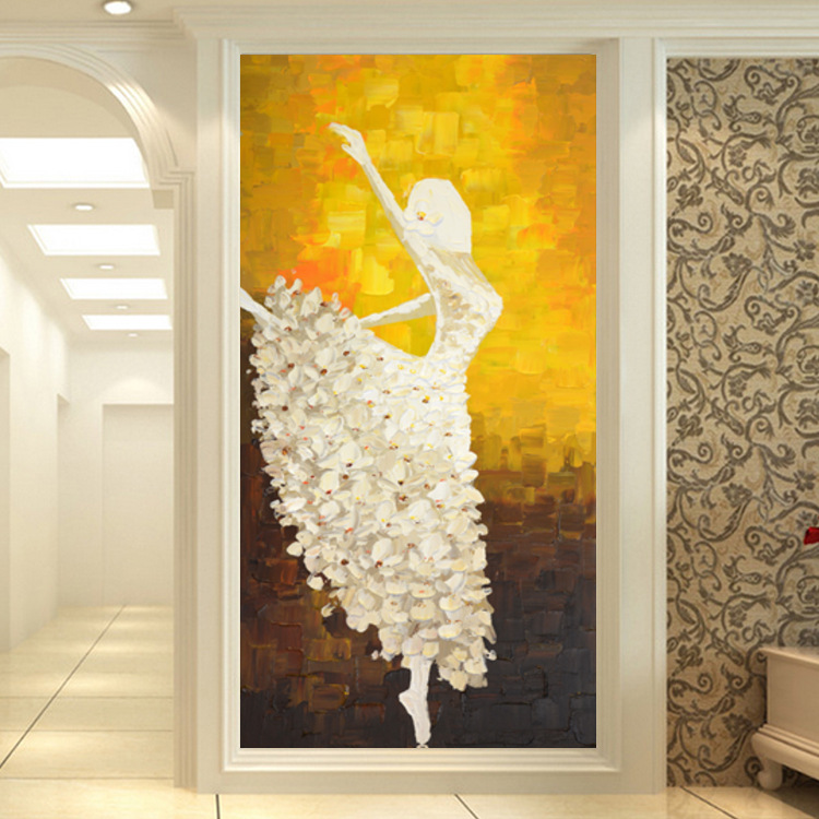 Entrance Decorative Painting Modern Minimalist Europe And America-Corridor Hallway Mural Vertical Abstract Figure Hanging Painti