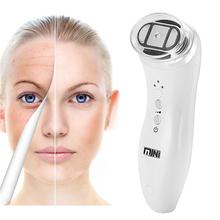 Hifu bipolarna elektroporacja mezoterapia Photon terapia światłem RF odmładzanie skóry Lifting twarzy dokręcić masaż urządzenie kosmetyczne tanie tanio GLOMEVE Z tworzywa sztucznego Brak elektryczne Mini Hifu Beauty Machine China Ultrasound Skin Care Device Maszyna wykonana