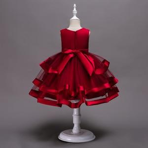 Платье с цветами для маленьких девочек, кружевное платье-пачка для девочек 2, 4, 6, 7, 8, 10 лет, вечеринка дня рождения событие, платье на выпускно...