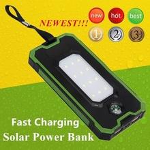 Solor Power Bank 30000mAh Powerbank bateria zewnętrzna przenośna szybka ładowarka do wszystkich smartfonów wodoodporna tanie tanio ALLPOWERS Bateria litowo-polimerowa Wsparcie szybkie ładowanie Cyfrowy wyświetlacz Podwójny USB 25001 mAh-29999 mAh Dla Laptop