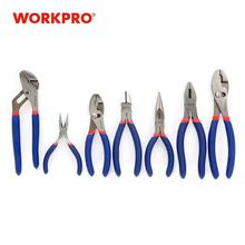 WORKPRO 7 قطعة كهربائي كماشة سلك كابل القاطع ذو طيات مجموعة السباكة ذو طيات كماشة طويلة